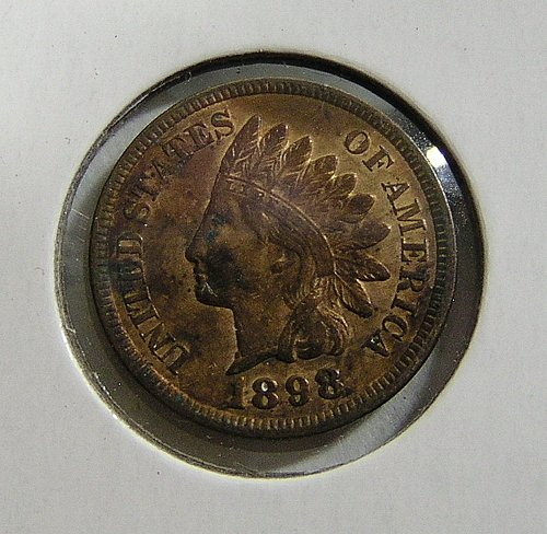 1898 Indian Head Cent - XF Condition