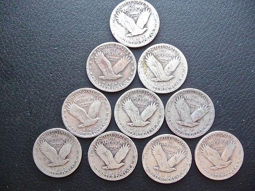 10 Standing Liberty Quarters