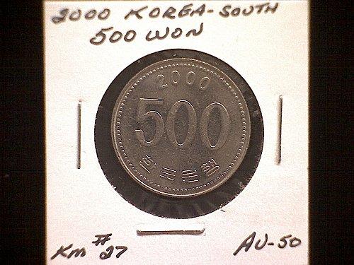 2000 KOREA-SOUTH FIVE HUNDRED WON