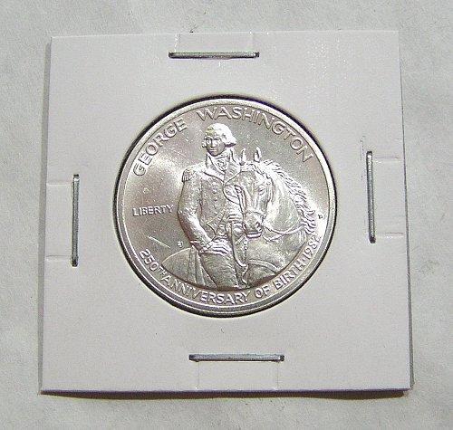 1982-D 50C Washington Commemorative Silver Half Dollar - BU