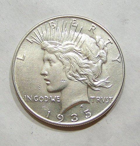 1935 Peace Dollar - AU/BU Condition