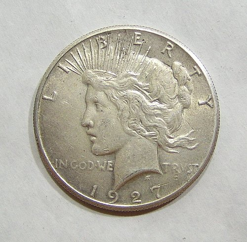 1927 Peace Dollar - AU Condition