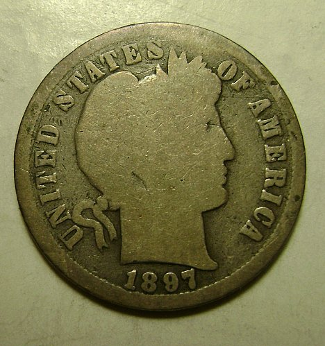 1897-S G Good Barber Dime #4 Free Shipping