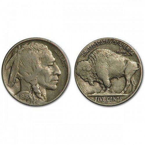 1918 D Buffalo Nickel - VF