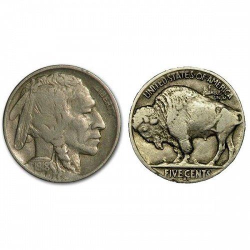 1918 S Buffalo Nickel - VF