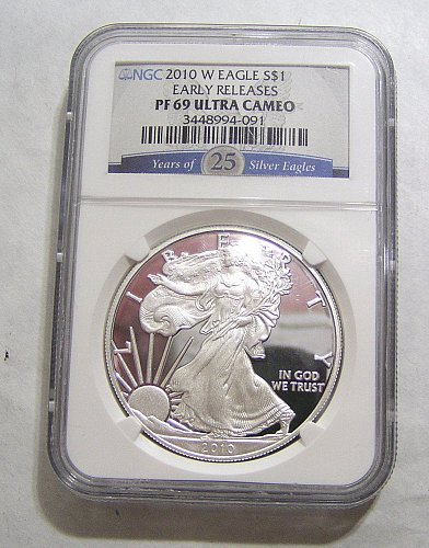 2010-W Silver Eagle Proof - graded PF69 by NGC