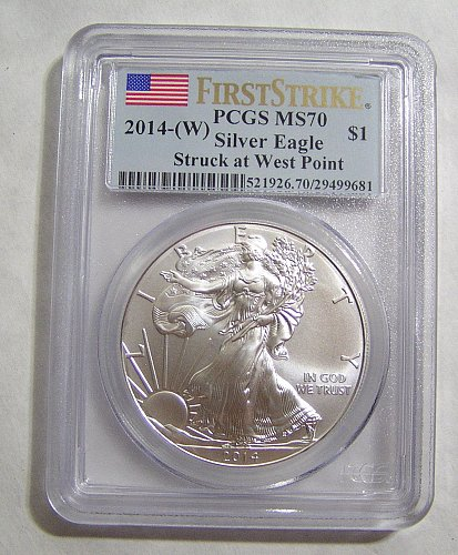 2014-W Silver Eagle - First Strike MS70 by PCGS