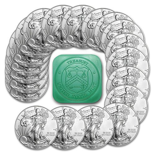 Roll of 20 - 2015 1 Troy Oz .999 Silver American Eagle Coins SKU33772