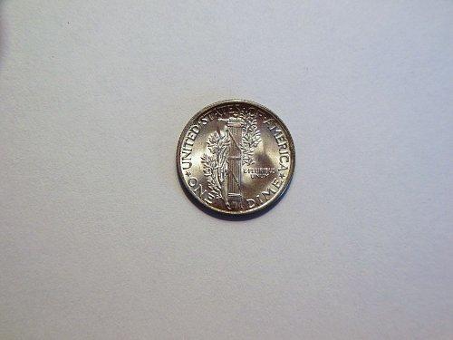 1945-P Silver Mercury Dime