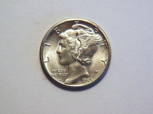 1945-D Silver Mercury Dime