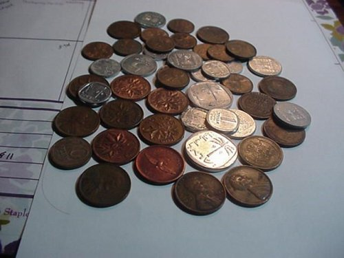 50+ mixed coins ,isael,canada usa..all for one low price