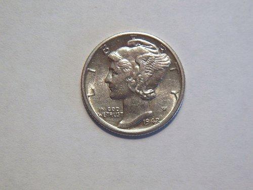 1942-D Silver Mercury Dime