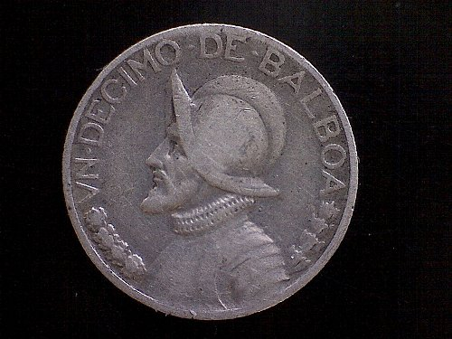 "1934 PANAMA 1/10 BALBOA  ""SILVER"""