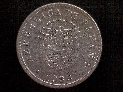 """1932 PANAMA FIVE CENTESIMOS """"NICKEL"""""""