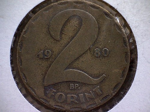 1980 HUNGARY TWO FORINT
