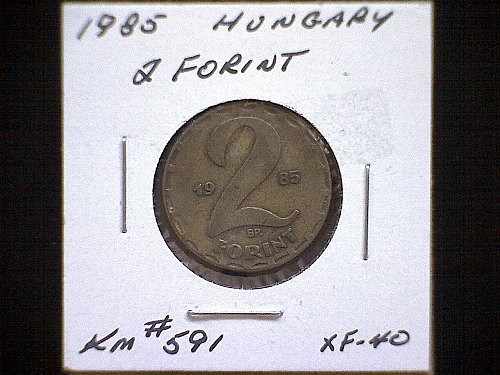 1985 HUNGARY TWO FORINT BRASS