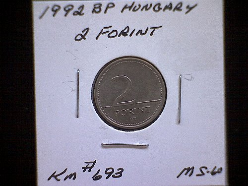1992BP HUNGARY TWO FORINT COPPER/NICKLE