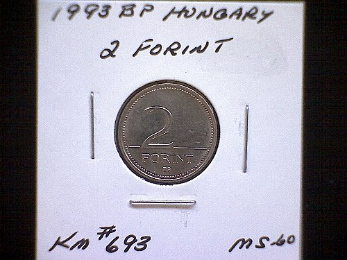 1993BP HUNGARY TWO FORINT COPPER/NICKEL