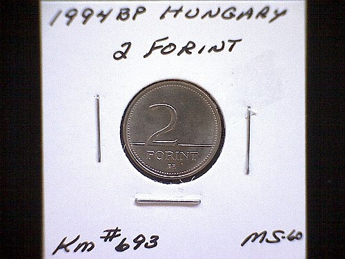 1994BP HUNGARY TWO FORINT COPPER/NICKEL