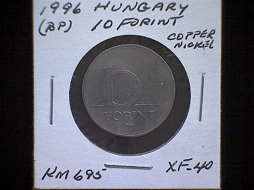 1996BP HUNGARY TEN FORINT COPPER NICKEL