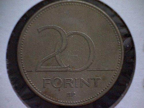 1994BP HUNGARY TWENTY FORINT NICKEL BRASS