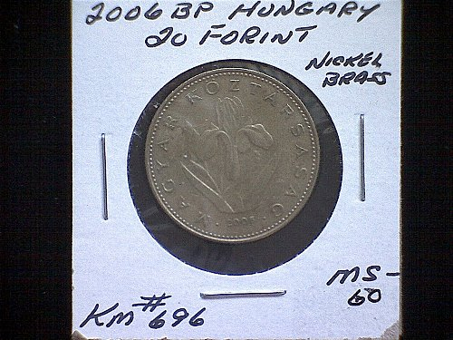 2006BP HUNGARY TWENTY FORINT NICKEL/BRASS