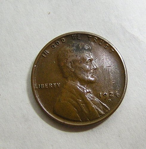 1924-D Lincoln Wheat Cent - VF Condition