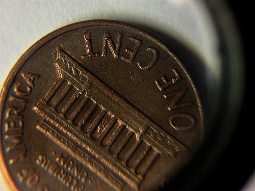 1970 D Lincoln Cent Lamination