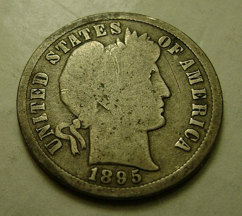 1895-S G Good Barber Dime Free Shipping