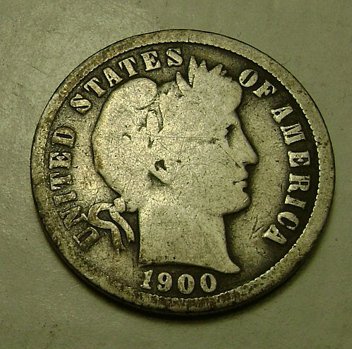 1900-O G Good Barber Dime #2 Free Shipping