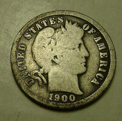 1900-O G Good Barber Dime #2 Free Shipping