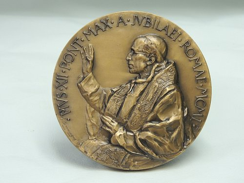 Pope Pius XII Holy Year 1950 Ascension Medallion (100mm)by Lorioli