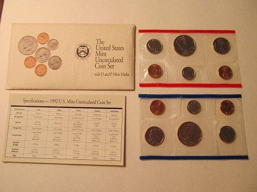 1992 US Mint Uncirculated set
