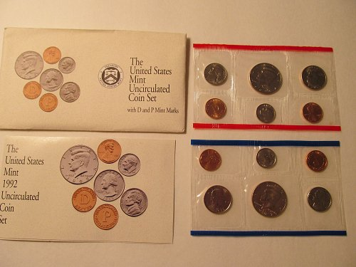 1992 US Mint Uncirculated coin set