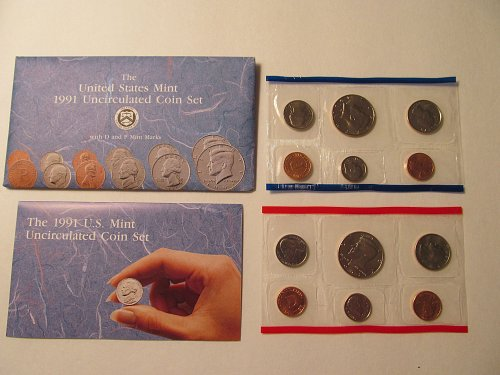 1991 US Mint Uncirculated coin set