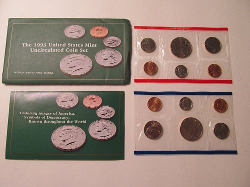 1993 US Mint Uncirculated Mint Set