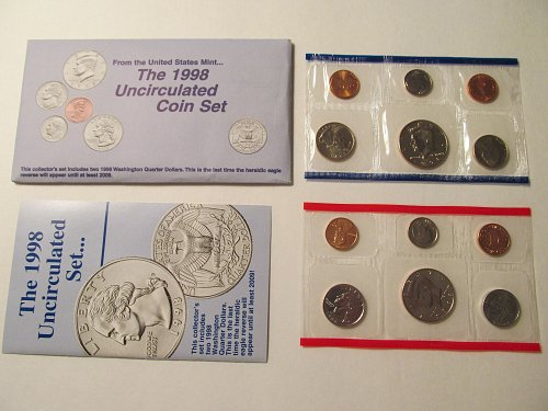 1998 US Mint Uncirculated Coin Set