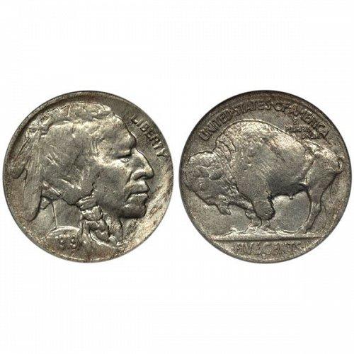 1919 D Buffalo Nickel - AU