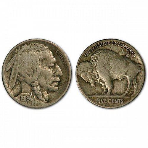 1919 S Buffalo Nickel - Fine