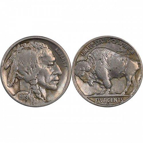 1919 S Buffalo Nickel - VF