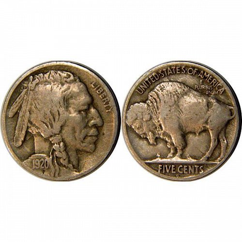 1920 D Buffalo Nickel - VF