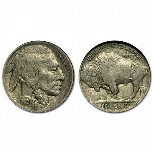 1920 D Buffalo Nickel - XF