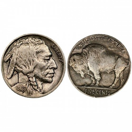 1920 D Buffalo Nickel - AU
