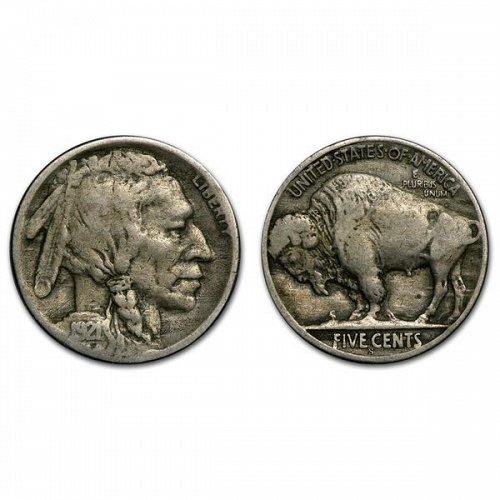 1921 S Buffalo Nickel - VF