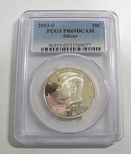 2003-S Kennedy Half Dollar Silver Proof - Graded PR69DCAM by PCGS