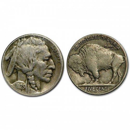 1925 D Buffalo Nickel - VF