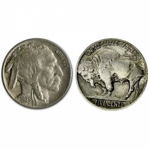 1925 D Buffalo Nickel - XF