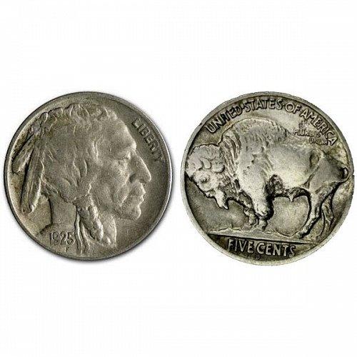1925 D Buffalo Nickel - XF