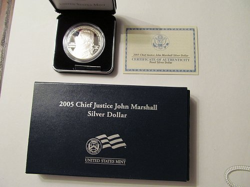 2005 Chief Justice John Marshall Silver Dollar