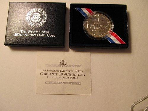 1992 White House 200th Anniversary silver dollar